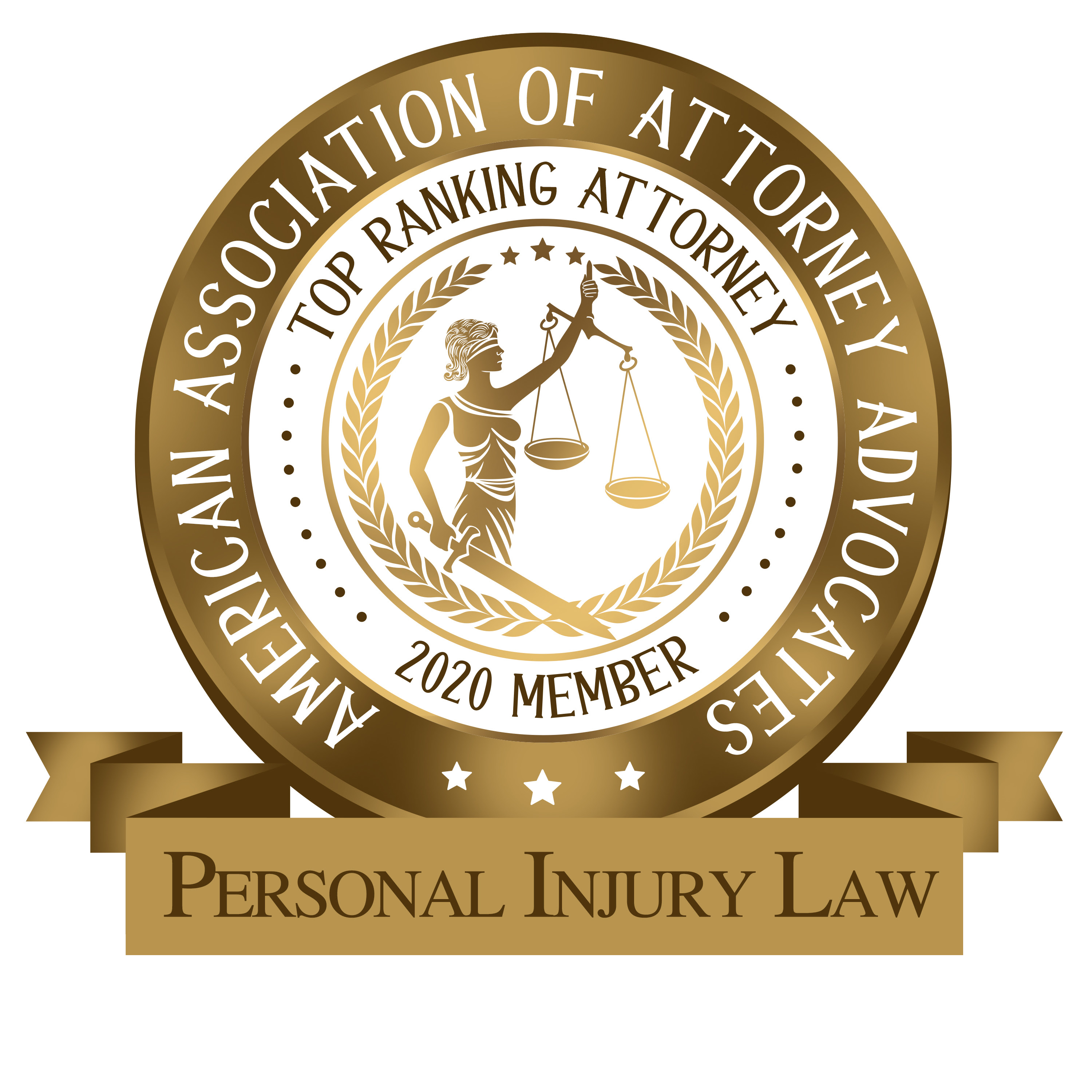 2020 Top Ranking Attorney for Personal Injury