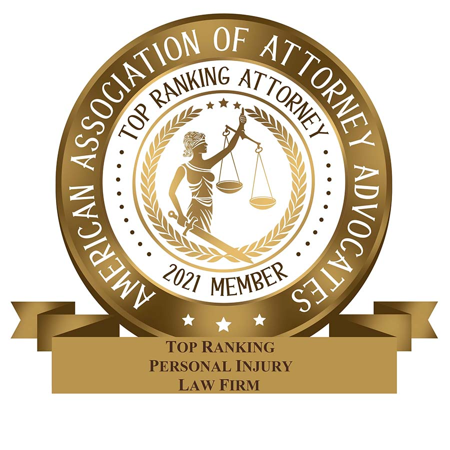 2021 Law Firm American Association of Attorney Advocates - Personal Injury Law